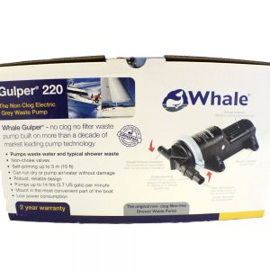 Whale pump, Whale gulper 220, shower pump